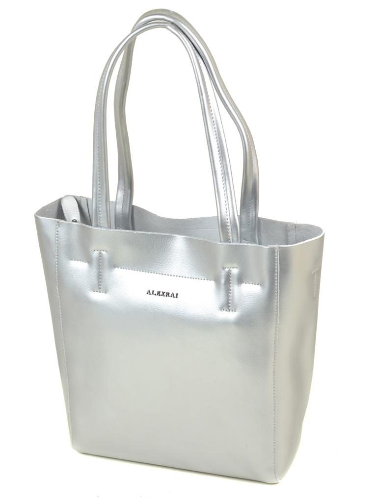 39bdc715a94f Сумка Женская Классическая кожа ALEX RAI 03-1 J003 silver-white ...