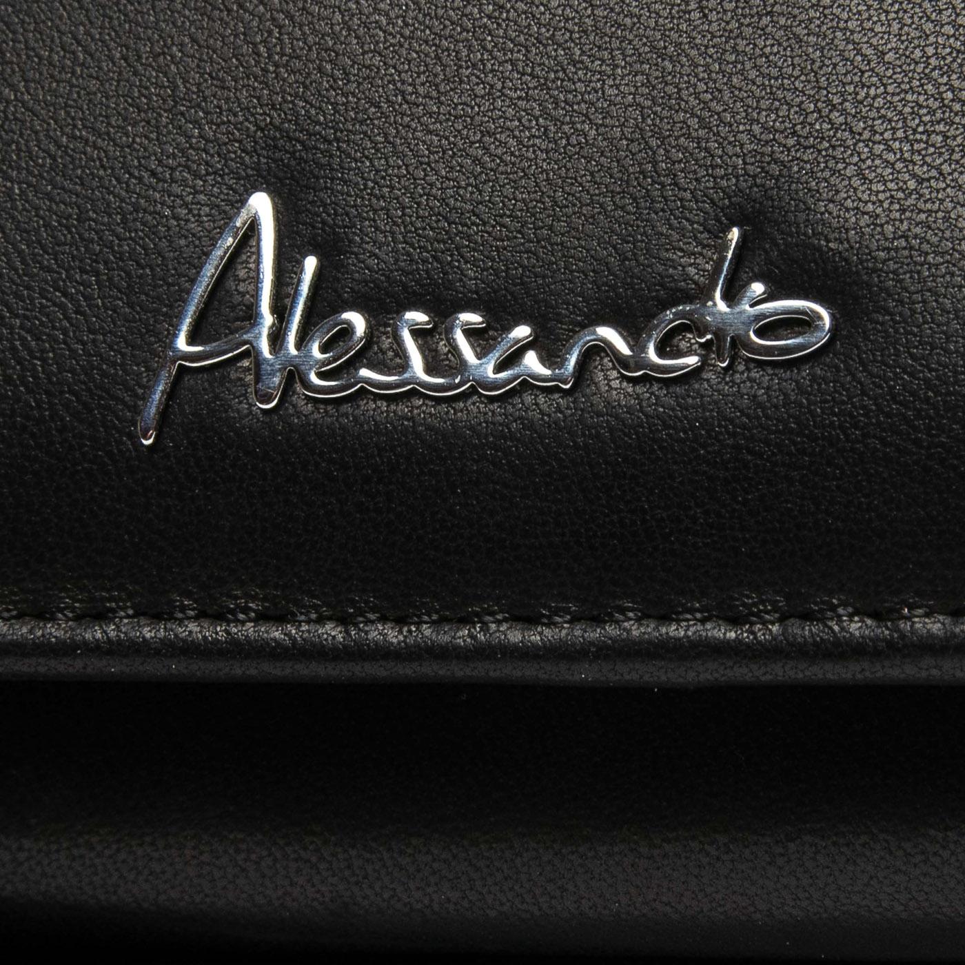 Кошелек NAPPA кожа ALESSANDRO PAOLI W1-V black