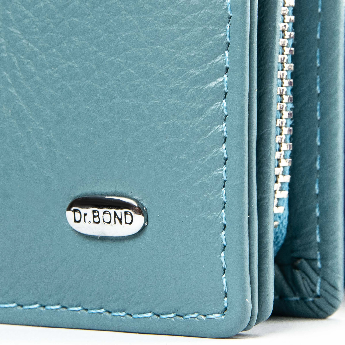 Кошелек Classic кожа DR. BOND WMB-3M light-blue