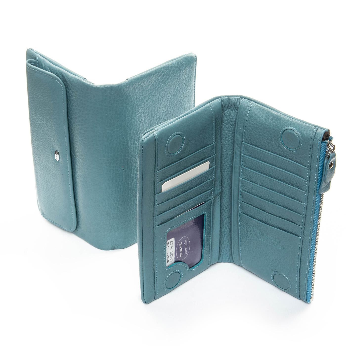 Кошелек Classic кожа DR. BOND WMB-4M light-blue
