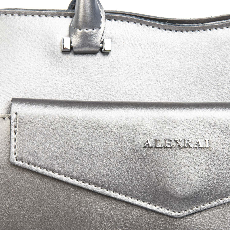 Сумка Женская Классическая кожа ALEX RAI 08-4 8857 grey