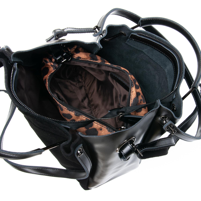 Сумка Женская Классическая замш ALEX RAI 09-1 8168-1 black