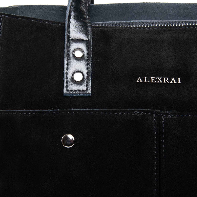 Сумка Женская Классическая замш ALEX RAI 09-1 8713-2 black