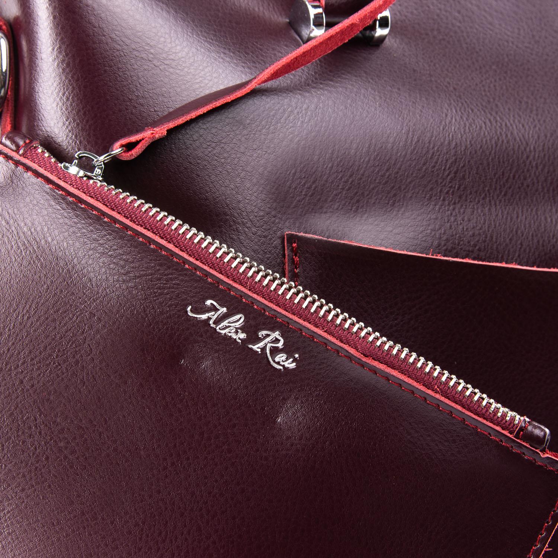 Сумка Женская Классическая кожа ALEX RAI 09-3 9322 wine-red
