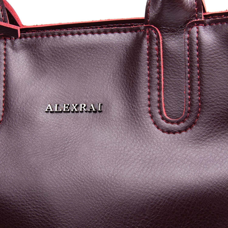 Сумка Женская Классическая кожа ALEX RAI 09-3 8633 wine-red