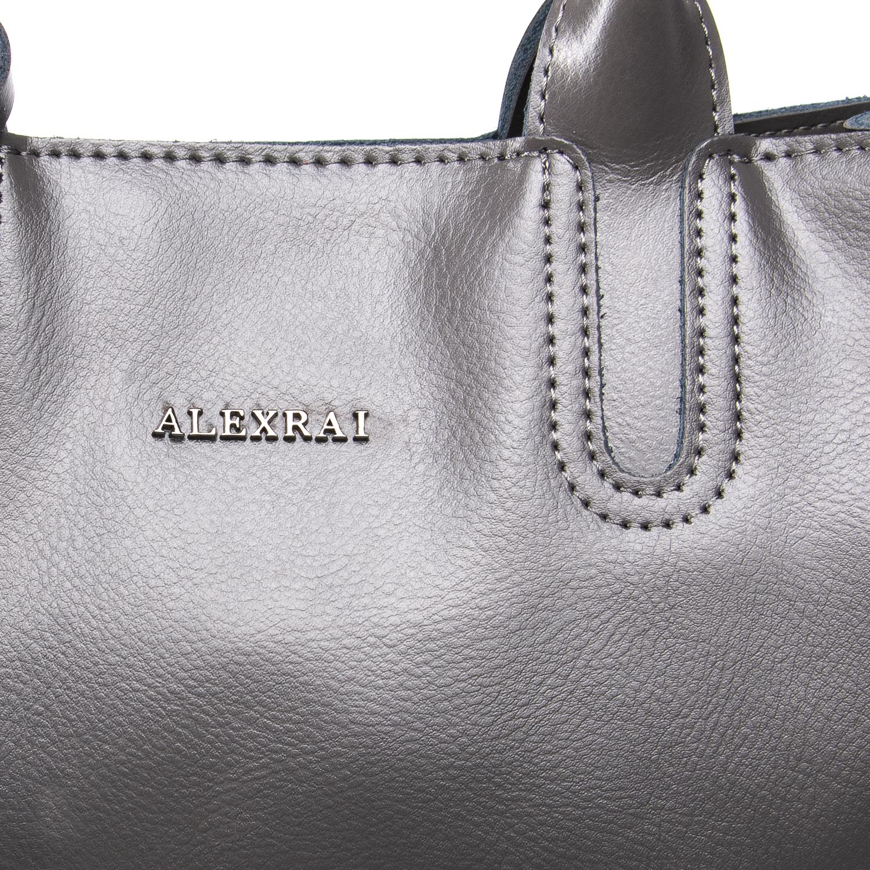 Сумка Женская Классическая кожа ALEX RAI 09-3 8633 grey