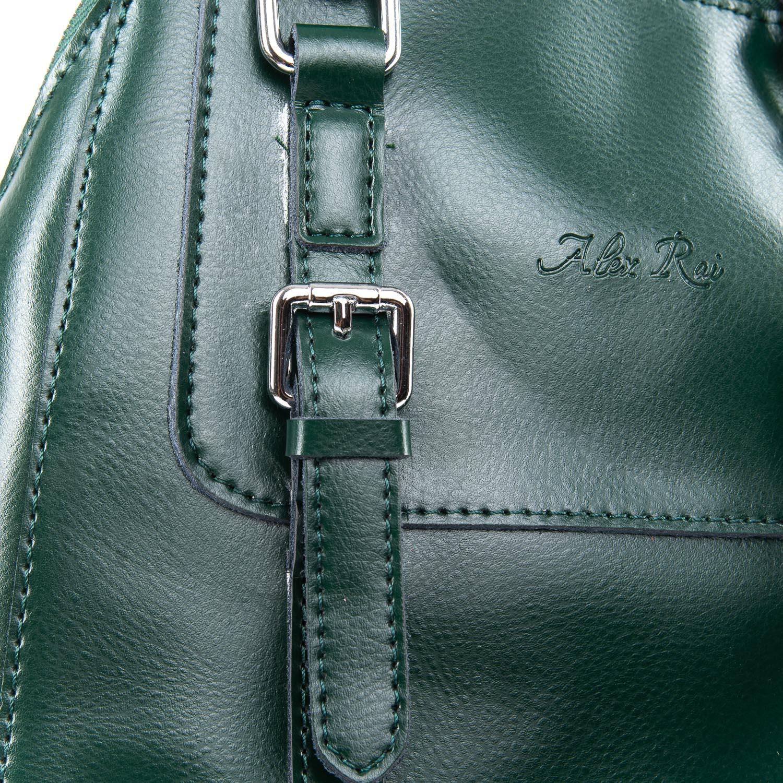Сумка Женская Рюкзак кожа ALEX RAI 09-3 8778 green