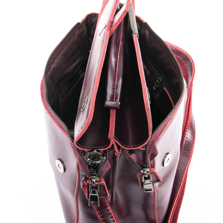 Сумка Женская Классическая кожа ALEX RAI 09-3 9927 wine-red