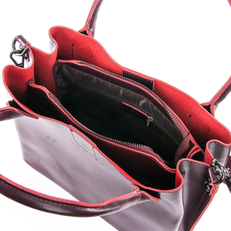 Сумка Женская Классическая кожа ALEX RAI 09-3 8784 wine-red