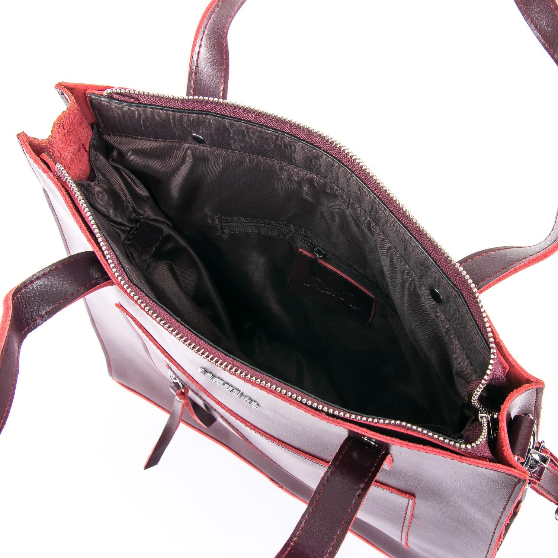Сумка Женская Классическая кожа ALEX RAI 09-3 9926 wine-red