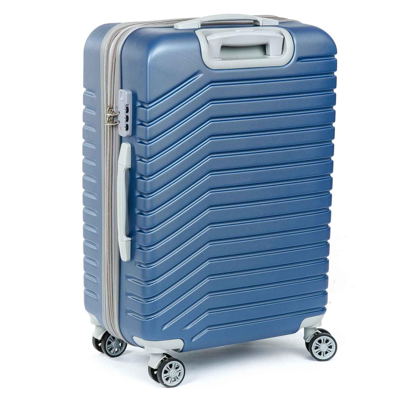 Дорожная Чемодан 2/1 ABS-пластик 8347 blue змейка