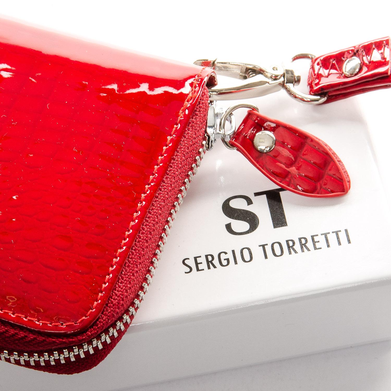 Кошелек LR кожа-лак SERGIO TORRETTI W38 red