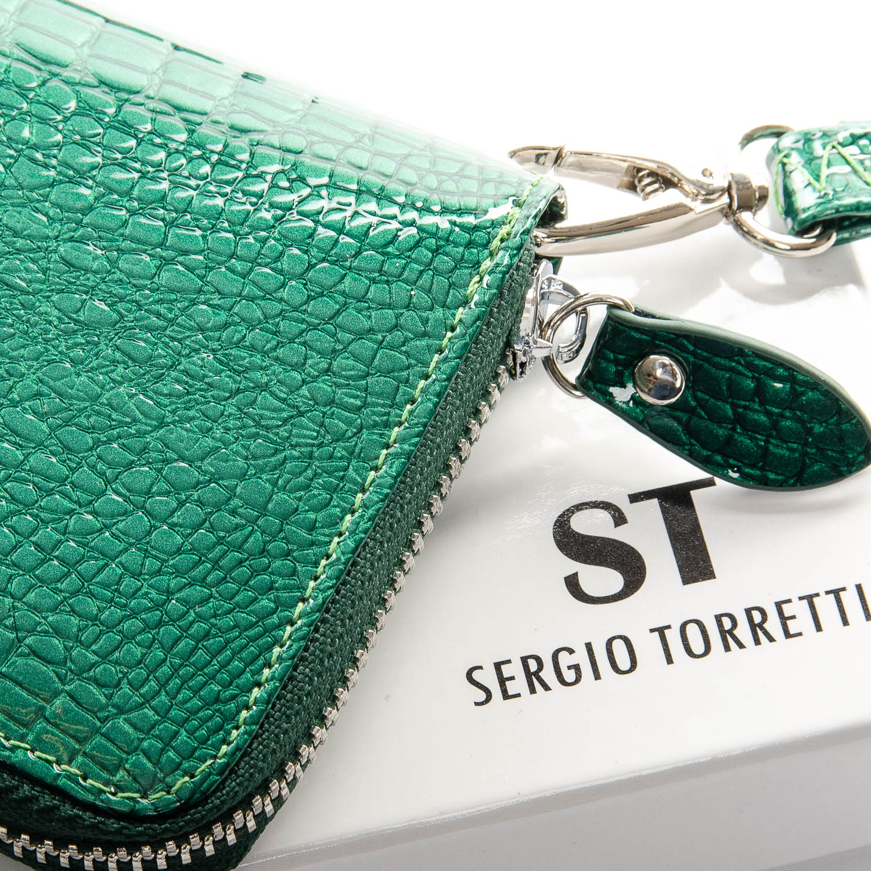 Кошелек LR кожа-лак SERGIO TORRETTI W38 dark-green