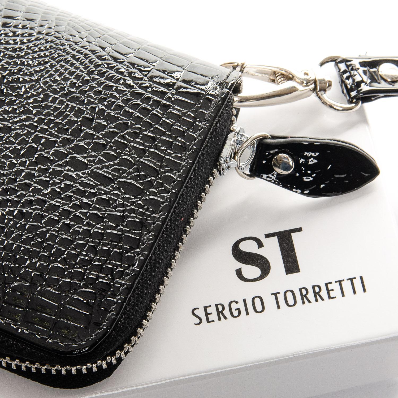 Кошелек LR кожа-лак SERGIO TORRETTI W38 black