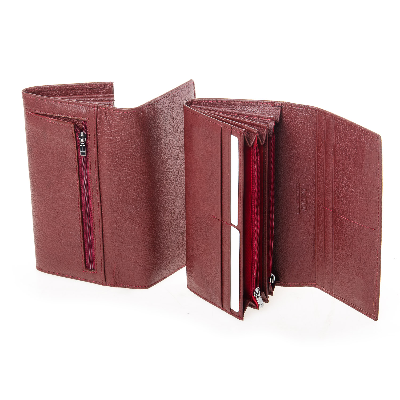 Кошелек Classic кожа DR. BOND W501-2 dark-red