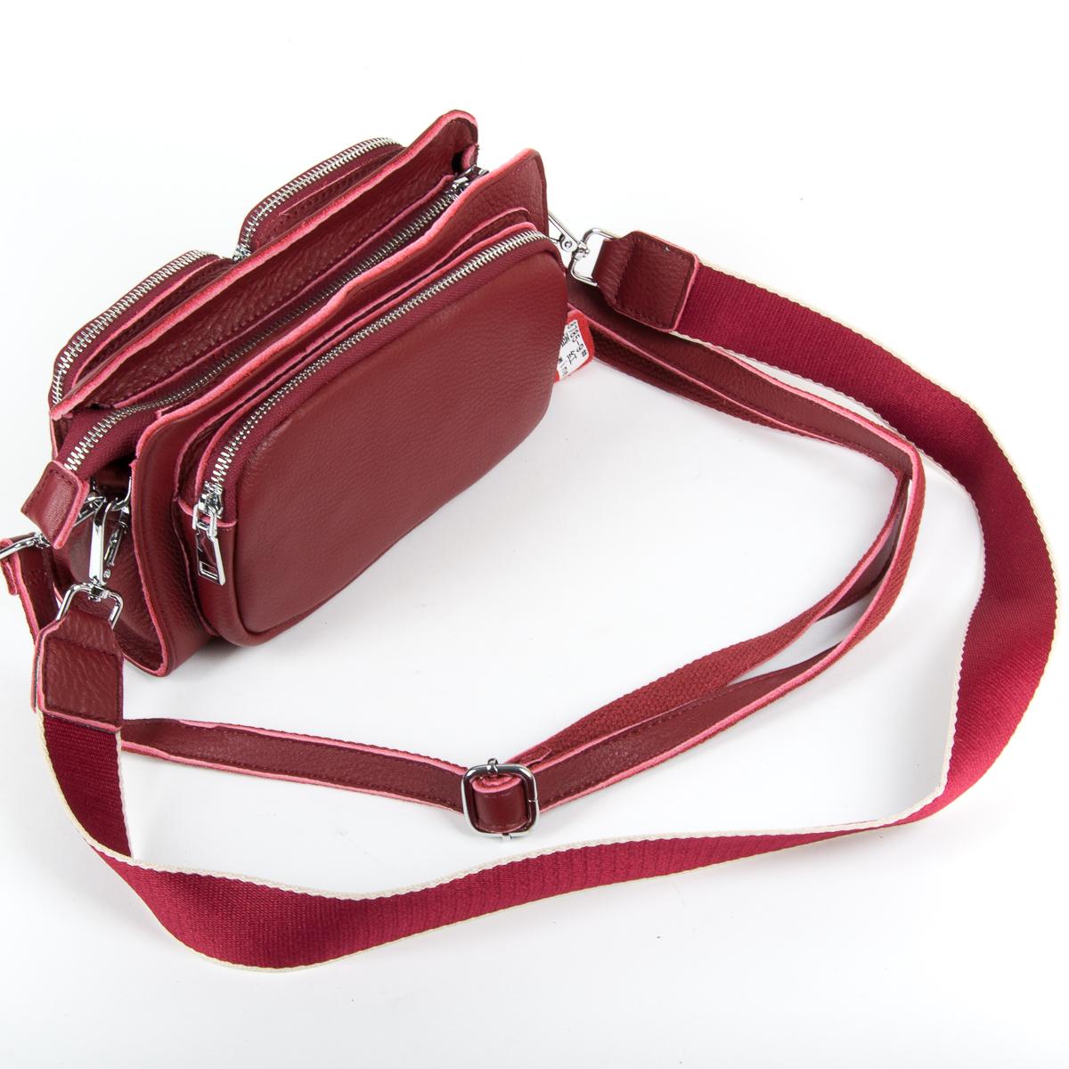 Сумка Женская Клатч кожа ALEX RAI 9-01 8785-9 wine-red