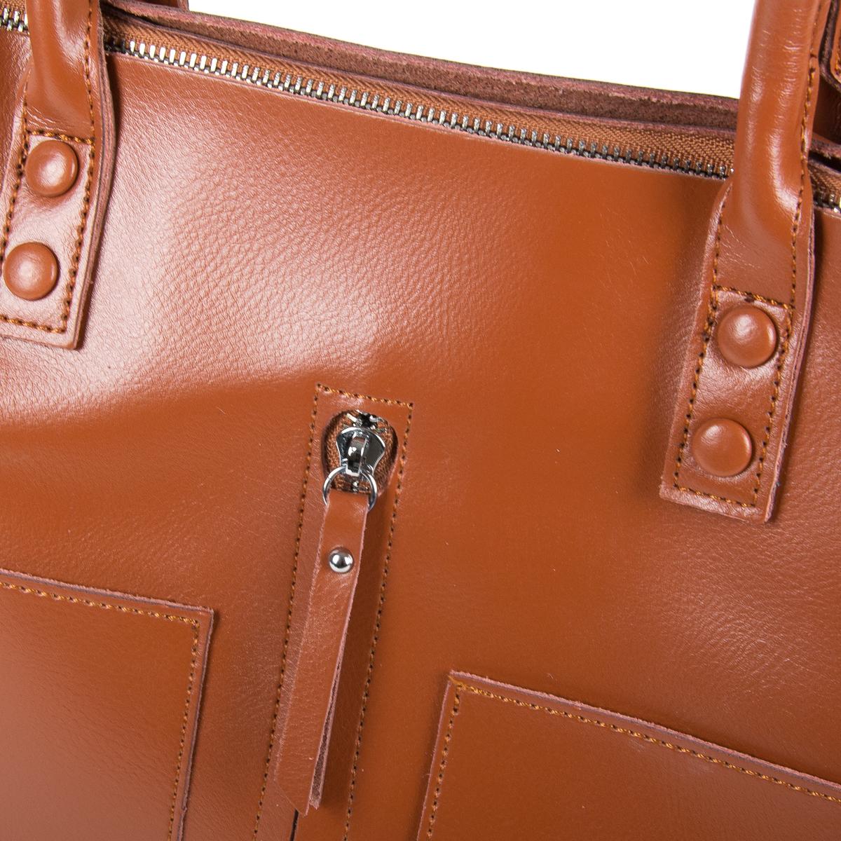 Сумка Женская Классическая кожа ALEX RAI 9-01 8776 yellowish-brown