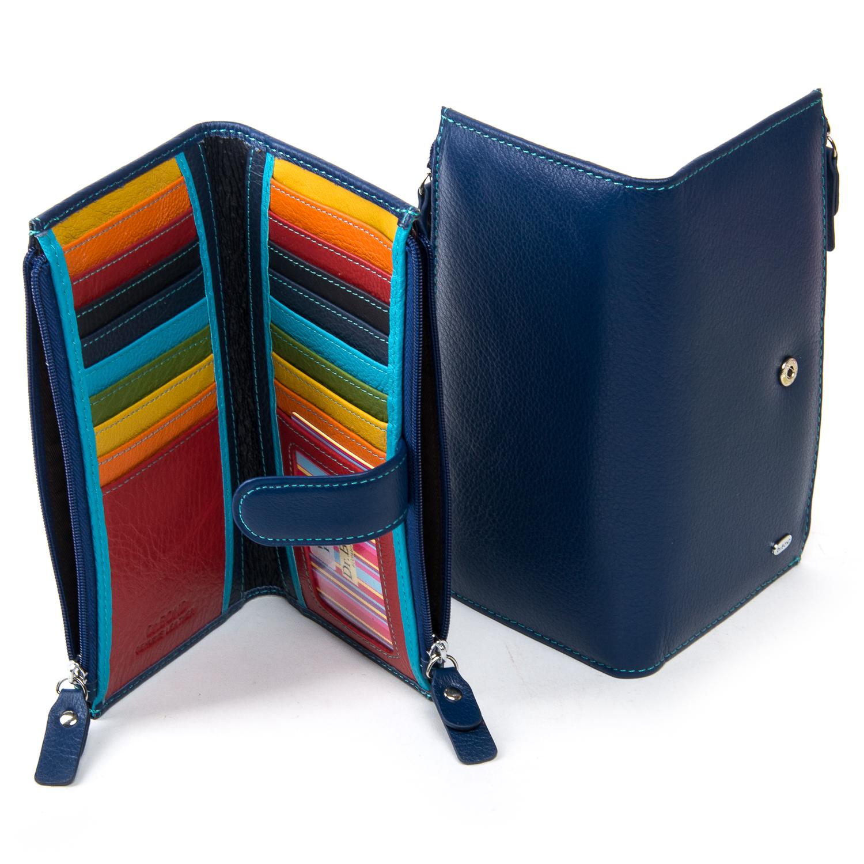 Кошелек Rainbow кожа DR. BOND WRN-23 blue
