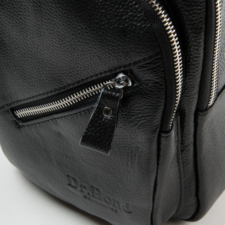 Сумка Мужская На Плечо кожа DR. BOND 6603 black