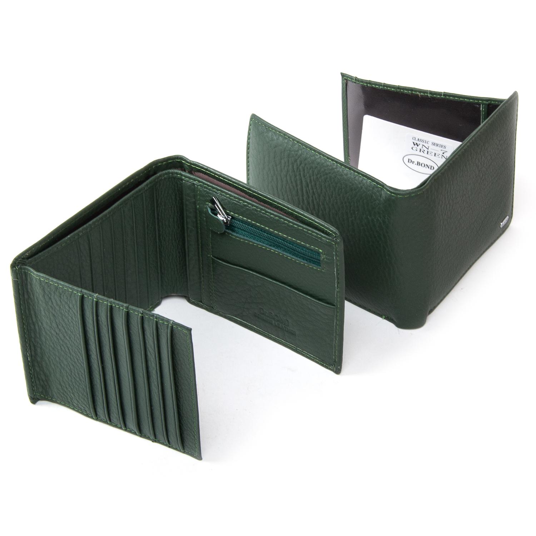 Кошелек Classic кожа DR. BOND WN-7 green