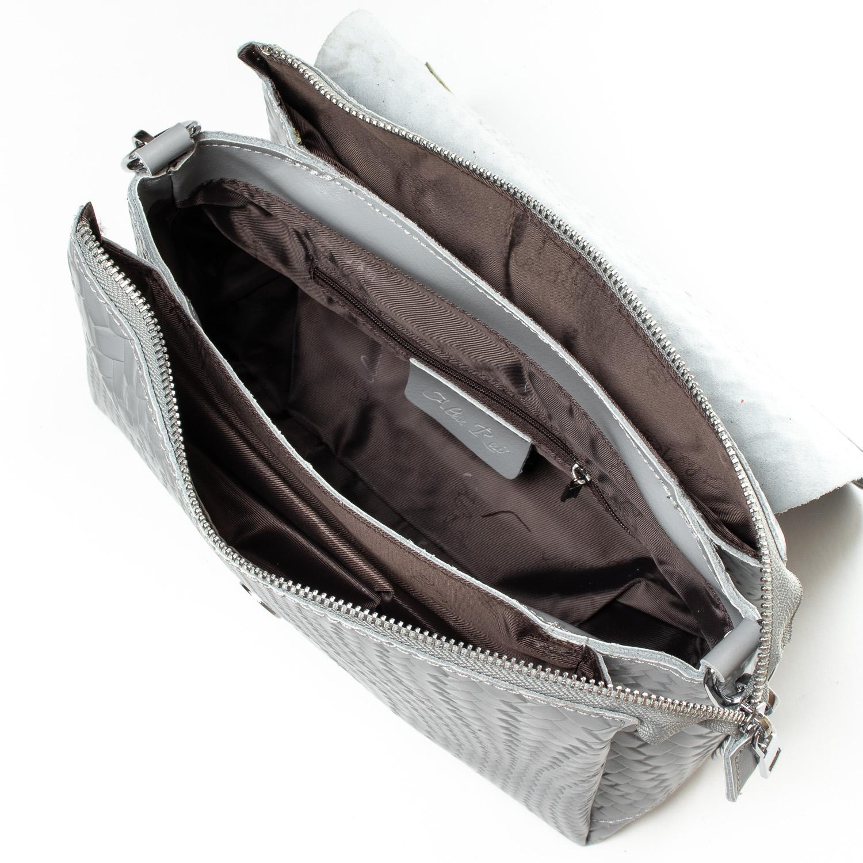 Сумка Женская Классическая кожа ALEX RAI 07-01 J009-1 l-grey