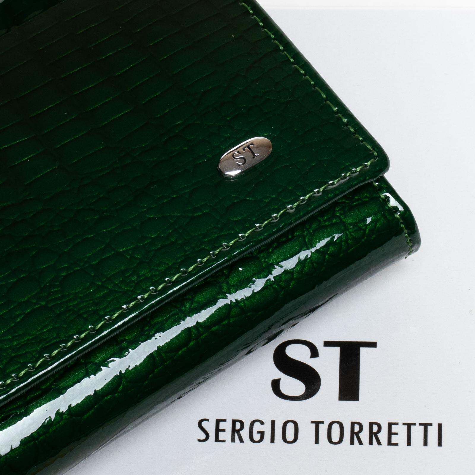Кошелек LR кожа-лак SERGIO TORRETTI W1-V-2 dark-green