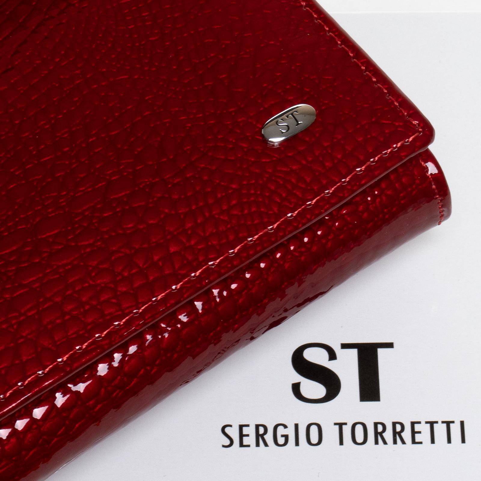 Кошелек LR кожа-лак SERGIO TORRETTI W1-V-2 red