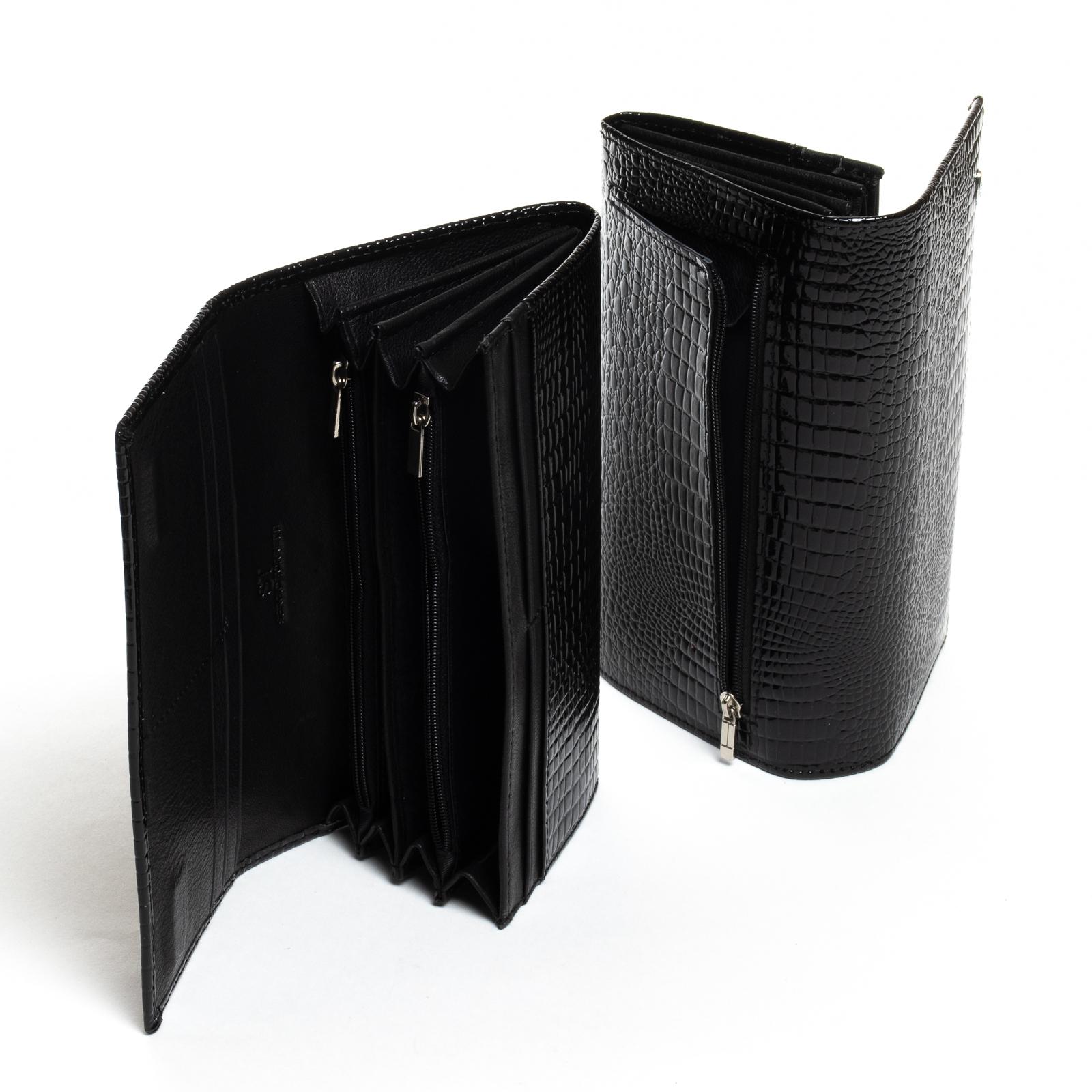 Кошелек LR кожа-лак SERGIO TORRETTI W501-2 black