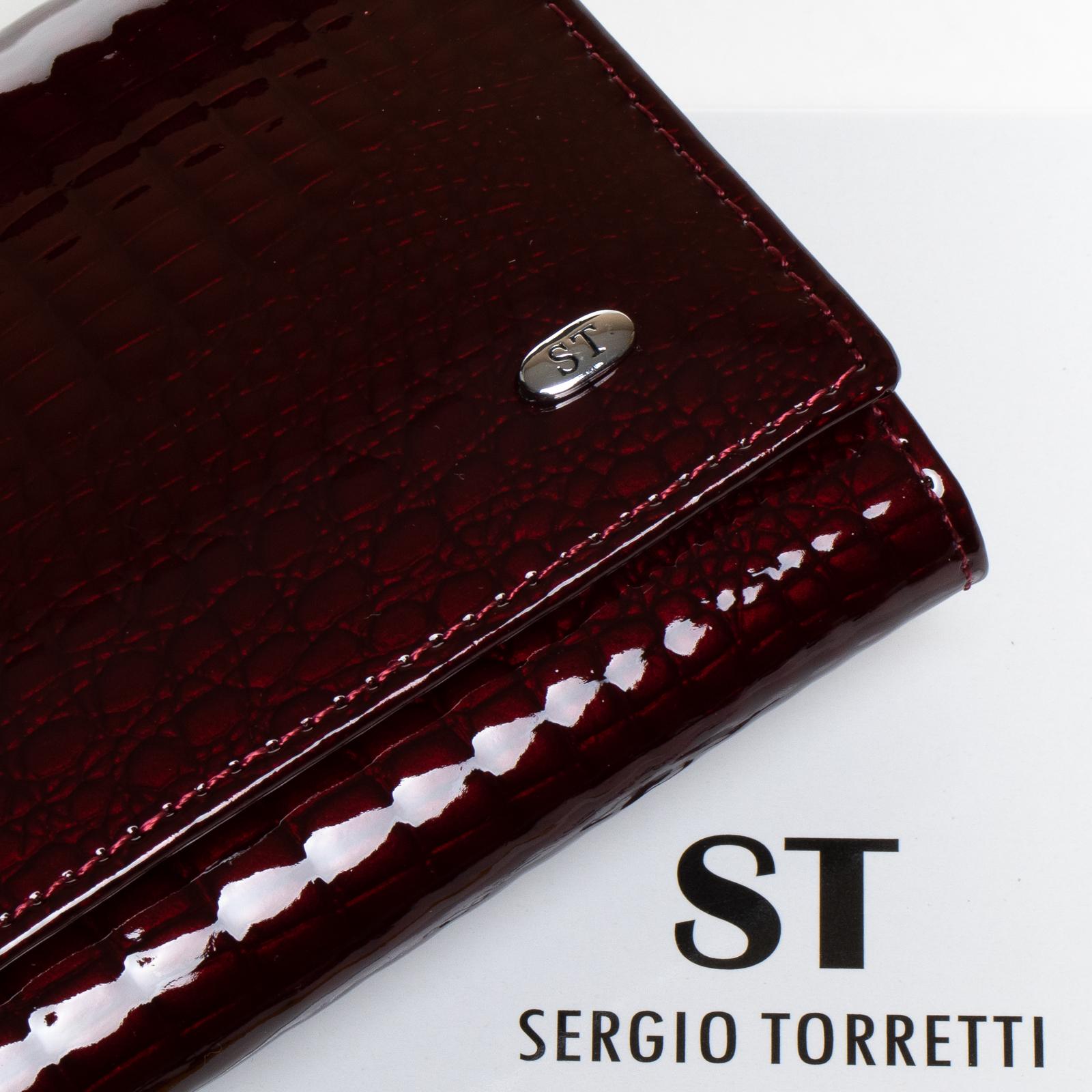 Кошелек LR кожа-лак SERGIO TORRETTI W501-2 bordo