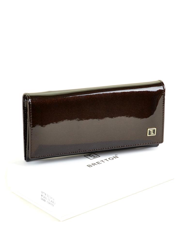 Кошелек Gold кожа BRETTON W501 dark-coffee