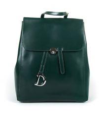 Сумка Женская Рюкзак кожа ALEX RAI 9-01 360 green