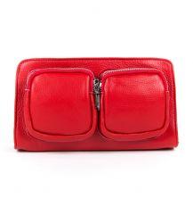 Сумка Женская Клатч кожа ALEX RAI 9-01 8785-9 red