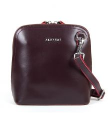 Сумка Женская Классическая кожа ALEX RAI 05-01 8803 burgundi