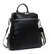 Сумка Женская Рюкзак кожа ALEX RAI 8781-9 black