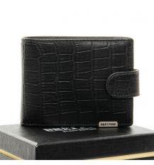 Кошелек Crocodile кожа BRETTON M3201 black
